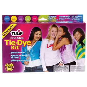 Tulip® One-Step Dye™ Ultimate Tie-Dye Kit for 20 Shirts; Capacity: 20 Shirts; Color: Multi; Format: Bottle; Ink Type: Tie Dye; (model D22676), price per kit