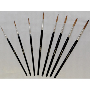 """Mack Red Sable Lettering and Showcard Brush Series 818: #12, Hair Length 1-1/8"""""""