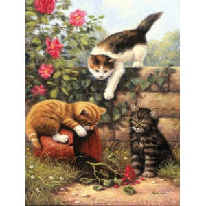 "Royal & Langnickel® Painting by Numbers™ 8 3/4 x 11 3/8 Junior Small Set Kitten at Play; Board Size: 8 3/4"" x 11 3/8""; (model PJS52), price per set"