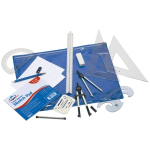 Alvin® Basic Beginner's Drafting Engineers' Kit: Drawing and Geometry Set, (model BDK-1E), price per each