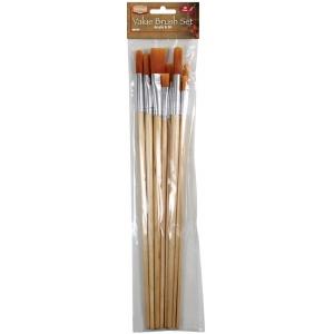 Heritage Arts™ 10-Piece Long Handle Oil Brush Value Set; Length: Long Handle; Type: Oil; (model ABP105), price per set