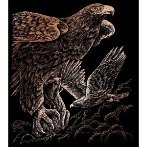 "Royal & Langnickel® Engraving Art Set Copper Foil Hawks; Board Size: 8"" x 10""; Color: Metallic; (model COPF20), price per set"