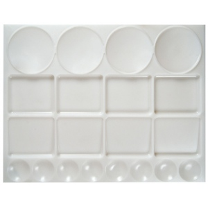 """Heritage Arts™ Extra Large Rectangular Palette; Material: Plastic; Quantity: 12 Wells; Shape: Rectangle; Size: 10"""" x 13""""; (model XLGTRAY), price per each"""