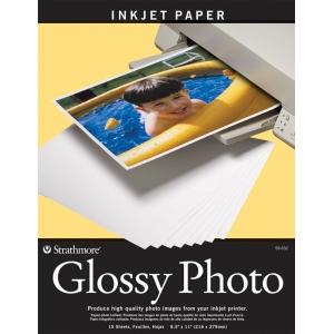"Strathmore® 8.5"" x 11"" Glossy Inkjet Paper: White/Ivory, 15 Sheets, 8 1/2"" x 11"", Gloss, (model ST59-632), price per 15 Sheets"