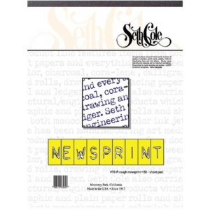 "Seth Cole 24"" x 36"" Newsprint Paper Pad; Format: Pad; Quantity: 50 Sheets; Size: 24"" x 36""; Texture: Rough; Weight: 30 lb; (model SC79RF), price per 50 Sheets pad"