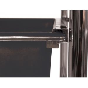"Blue Hills Studio™ Storage Cart 6-Drawer (Standard and Deep) Smoke; Color: Black/Gray; Drawer Size: 13 3/4""l x 9 3/4""w x 5""h, 13 5/8""l x 9 5/8""w x 5/8""h; Material: Plastic; Quantity: 6-Drawer; Size: 15""d x 11 1/4""w x 32""h; (model SC6SM), price per each"