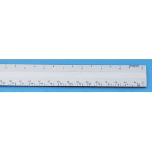 "Alvin® 260 Series 6"" White Plastic Flat Engineer Scale: White/Ivory, Plastic, 6"", Engineer, (model 267P), price per each"