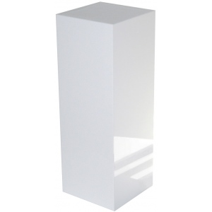 "Xylem White Gloss Acrylic Pedestal: Size 15"" x 15"", Height 18"""