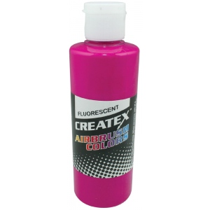 Createx™ Airbrush Paint 4oz Fluorescent Raspberry: Red/Pink, Bottle, 4 oz, Airbrush, (model 5402-04), price per each