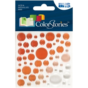 "Blue Hills Studio™ ColorStories™ Epoxy Color Spots Stickers Red; Color: Red/Pink; Material: Epoxy; Size: 3 1/4"" x 3 1/4""; Type: Dimensional; (model BHS10117), price per each"