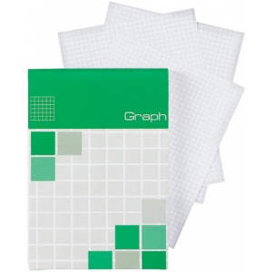 "Alvin® Saray Graph Pad 2.9"" x 8.3"": Pad, 5"" x 5"", 80 Sheets, 2.9"" x 8.3"", Graph, 20 lb, (model ALG08), price per 80 Sheets pad"