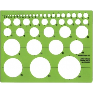 "Alvin® Circle Guide Template; Scale: 1/16"" - 2 3/4""; (model TD4000), price per each"