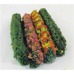 "Wee Scapes™ Architectural Model Flower Hedges; Color: Multi; Coverage: 150 sq in; Material: Poly Fiber, Turf; Quantity: 4-Pack; Size: 3/8""d x 5""w x 5/8""h; Type: Flowers; (model WS00305), price per 4-Pack"