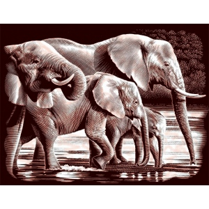 """Reeves™ Scraperfoil™ Gold Foil Elephant; Color: Multi; Size: 8"""" x 10""""; (model PPCF37), price per each"""