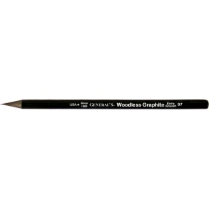 All-Art® Woodless 4B Graphite Pencil; Color: Black/Gray; Degree: 4B; (model 97-4B), price per dozen (12-pack)
