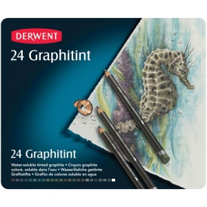 Derwent Graphitint Pencil 24-Color Set; Color: Multi; Type: Watercolor; (model 0700803), price per set