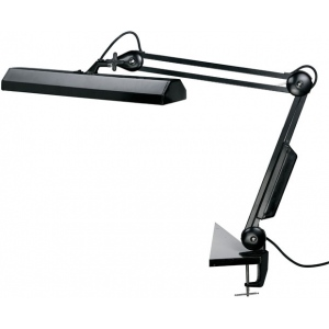 "Alvin® Fluorescent Task Light Black: Black/Gray, 10"" & Up, Clamp, 8-25w, (model FL655-B), price per each"