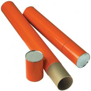 "Alvin® Orange Fiberboard Tube 4"" I.D. x 37-1/4""; Color: Orange; Material: Fiberboard; Size: 4"" x 37 1/4""; (model T418-37), price per each"