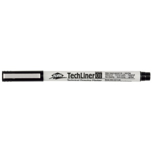 Alvin® TechLiner Technical Drawing Marker .1mm; Color: Black/Gray; Tip Size: .1mm; Tip Type: Fine Nib; Type: Technical; (model TL01), price per each