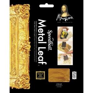 "Mona Lisa™ Metal Leaf™ Gold Sheets; Color: Metallic; Format: Sheet; Quantity: 25 Sheets; Size: 5 1/2"" x 5 1/2""; (model ML10204), price per 25 Sheets"