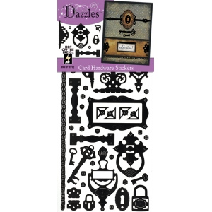 """Dazzles™ Stickers Hardware Black; Color: Black/Gray; Size: 4"""" x 9""""; Type: Flat; (model HOTP1912), price per each"""