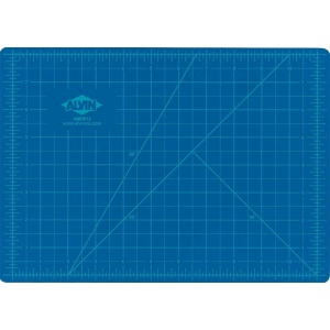 """Alvin® HM Series Blue/Gray Self-Healing Hobby Mat 12 x 18; Color: Black/Gray, Blue; Grid: Yes; Material: Vinyl; Size: 12"""" x 18""""; Thickness: 2mm; Type: Cutting Mat; (model HM1218), price per each"""