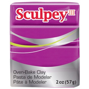 Sculpey® III Polymer Clay Pearl; Color: Red/Pink; Format: Bar; Material: Polymer; Size: 2 oz; (model S3021112), price per each