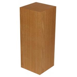 "Xylem Cherry Wood Veneer Pedestal: 15"" X 15"" Size, 24"" Height"