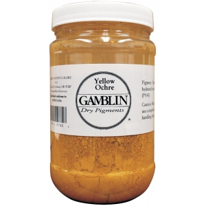 Gamblin Dry Pigment 229g Yellow Ochre; Color: Blue; Format: Jar; Size: 4 oz; (model G9780), price per each