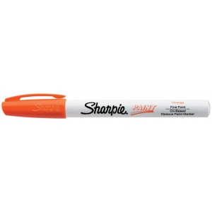 Sharpie® Oil Paint Marker Fine Orange; Color: Orange; Ink Type: Paint; Tip Type: Fine Nib; (model SN35542), price per each