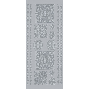 "Blue Hills Studio™ DesignLines™ Outline Stickers Silver #34; Color: Metallic; Size: 4"" x 9""; Type: Outline; (model BHS-DL034), price per pack"