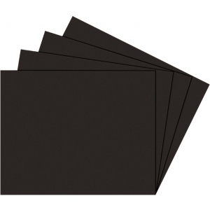 "Alvin® Black on Black Presentation Boards 11"" x 14""; Color: Black/Gray; Finish: Matte; Format: Sheet; Quantity: 25 Sheets; Size: 11"" x 14""; Type: Photography Presentation Board; (model PB1114-25), price per 25 Sheets box"