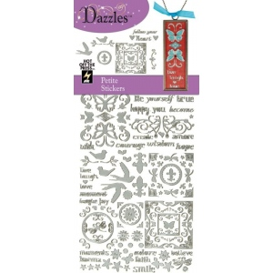 "Dazzles™ Stickers Silver Petites: Metallic, 4"" x 9"", Outline, (model HOTP2056), price per each"
