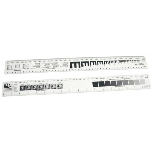 "Westcott® C-Thru® 18"" Graphic Arts Ruler; Color: White/Ivory; Material: Plastic; Size: 18""; Type: Ruler; (model GA86), price per each"
