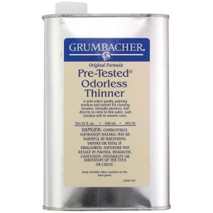 Grumbacher® Pre-Tested® Odorless Paint Thinner 32oz; Format: Can; Size: 32 oz; Type: Solvents; (model GB56532), price per each