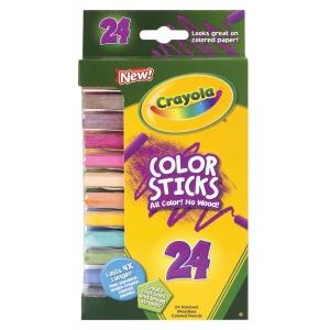 Crayola® Woodless Color Sticks Pencil 24-Color Set; Color: Multi; Format: Pencil; (model 68-2324), price per pack