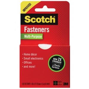 """Scotch® Multi-Purpose Reclosable White 3/4"""" x 5' Fasteners; Color: White/Ivory; Size: 3/4"""" x 5'; (model RF7040), price per each"""