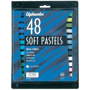 Alphacolor® Soft Pastels Basic 48-Color Set; Color: Multi; Format: Stick; Type: Soft; (model QT148007), price per set
