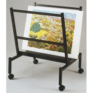 "Heritage Arts™ Small 26"" Wide Poster & Print Rack; Capacity: 100 Prints; Color: Black/Gray; Material: Steel; Size: 25""d x 26""w x 32""h; Type: Display; (model PHR50-BK), price per each"