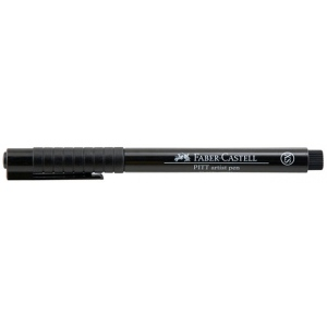 Faber-Castell® PITT® Artist Pen Extra Superfine; Color: Black/Gray; Ink Type: India, Pigment; Tip Type: Super Fine Nib; (model FC167099), price per each