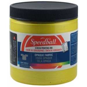 Speedball® 8 oz. Opaque Fabric Screen Printing Ink Citrine; Color: Yellow; Format: Jar; Ink Type: Fabric; Size: 8 oz; Type: Screen Printing; (model 4805), price per each
