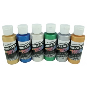 Createx™ Airbrush Pearlescent 6-Color Set; Color: Multi; Format: Bottle; Size: 2 oz; Type: Airbrush; (model 5804-00), price per set