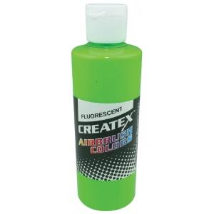 Createx™ Airbrush Paint 4oz Fluorescent Green: Green, Bottle, 4 oz, Airbrush, (model 5404-04), price per each