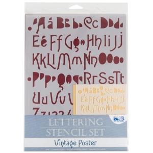 """Blue Hills Studio™ Lettering Stencil Set Vintage Poster: 1"""", 3/8"""", Lettering, (model BHS110SET), price per set"""