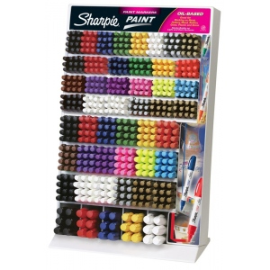 Sharpie® Oil-Based Paint Marker Display; Color: Multi; Ink Type: Paint; Type: Paint Marker; (model SN37223D), price per each