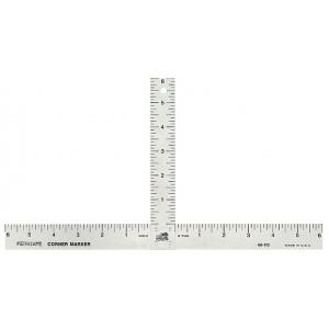 "Fairgate® Aluminum Matte Marking T-Square; Color: Metallic; Material: Aluminum; Size: 12"" x 6""; Type: Ruler; (model 417), price per each"