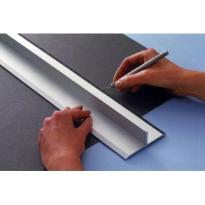 "Alvin® Safe-T-Cut 12"" Graduated Cutting Straightedge; Color: Metallic; Material: Aluminum; Size: 12""; Type: Straightedge; (model SE12), price per each"