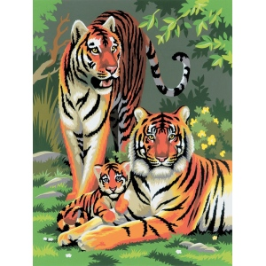 "Royal & Langnickel® Painting by Numbers™ 8 3/4 x 11 3/8 Junior Small Set Tigers; Board Size: 8 3/4"" x 11 3/8""; (model PJS27), price per set"