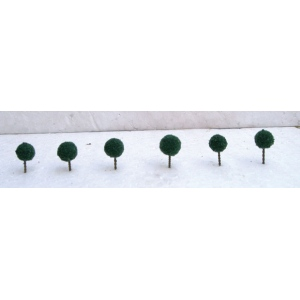 "Wee Scapes™  Architectural Model Dark Green Micro Trees: Green, 20-Pack, 1/2"", Tree, (model WS00320), price per 20-Pack"