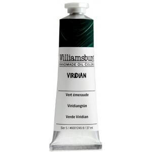 Williamsburg® Handmade Oil Paint 37ml Viridian; Color: Green; Format: Tube; Size: 37 ml; Type: Oil; (model 6001245-9), price per tube
